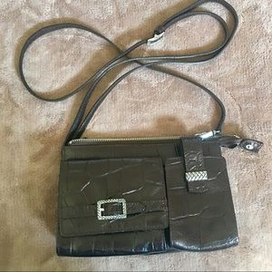 👜Brighton Leather Crossbody faux crocodile